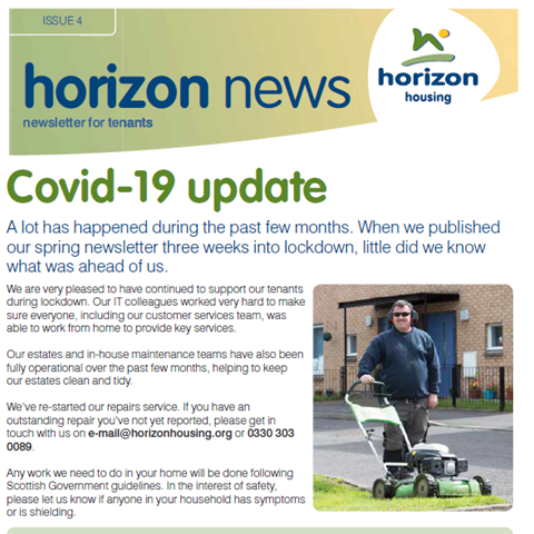 Front cover of issue 4 of Horizon News