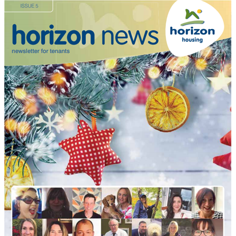 Front cover of issue 5 of Horizon News